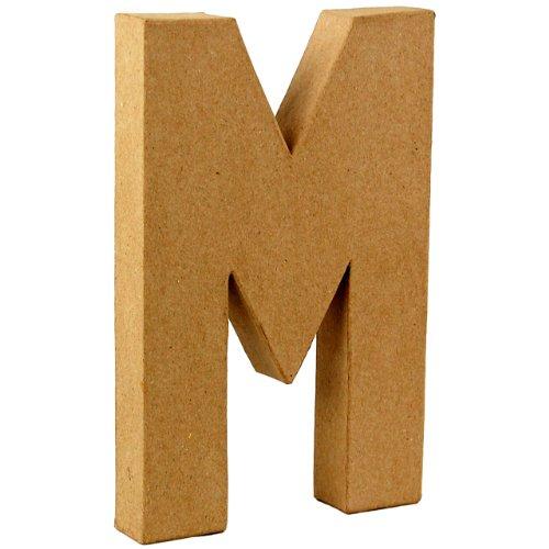 country-love-crafts-825-inch-205cm-3d-letter-m-papier-mache