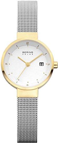 Bering Solar 14426-010 Bicolor Stainless Steel Ladies Watch Bracelet Sapphire Crystal