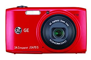GE Smart J1470S-RD 14 MP with 7 x Optical Zoom Digital Camera, Red (OLD MODEL)