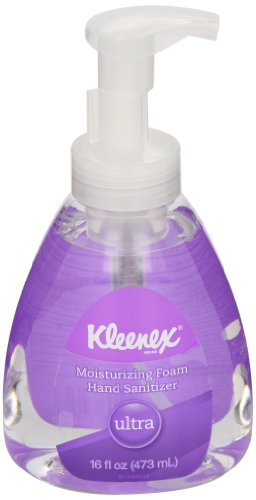 Kimberly-Clark Kleenex 34618 Ultra Moisturizing Foam Hand Sanitizer, 473mL (Case of 6)