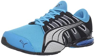 PUMA Voltaic 3 NM Running Shoe,Blue/Black/Shadow/Silver,7 D US