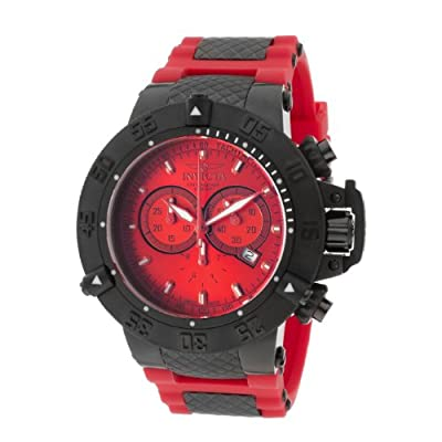 Invicta Men's 11842 Subaqua Noma III Chronograph Red Dial Red Silicone Watch
