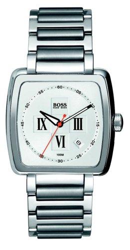 Hugo Boss Gateway 1512072 - Reloj de caballero de cuarzo, correa de acero inoxidable color plata