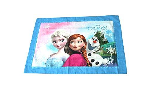 アナと雪の女王 枕カバー ピローケース Pillow Case Cushion Cover Frozen フローズン アナ エルサ オラフ 063210 ウォルト・ディズニー  Walt Disney Let It Go Anna Elsa Olaf 公式ライセンス商品 82 (BLUE) narahomedeco