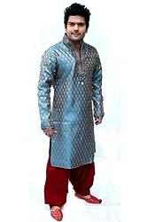 Runako Men's Silk Blend Sherwani
