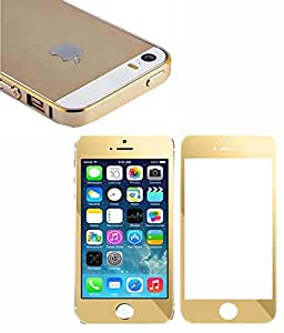 Generic Gold Bumper && Gold Tempered Glass TE-1030 For Apple iphone 6, Apple iphone 6s Gold