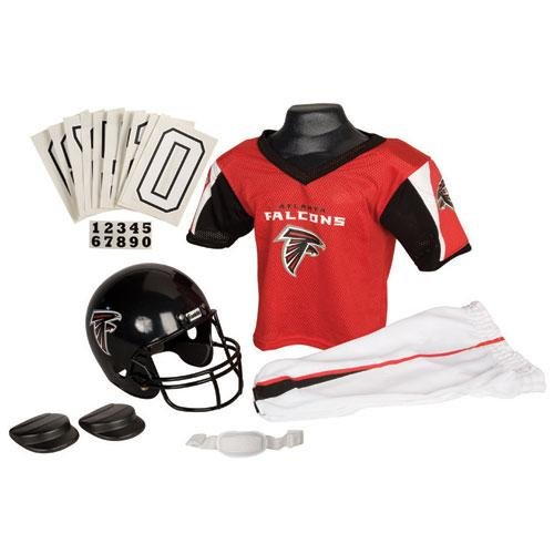 Atlanta Falcons Youth NFL Deluxe Helmet and Uniform Set (Small) at Amazon.com