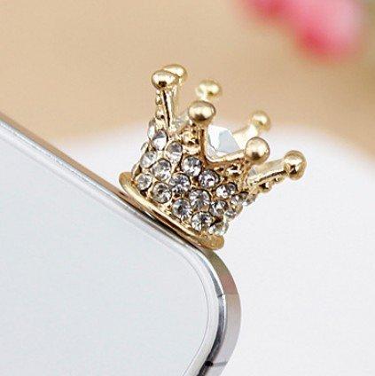 Crown Crystal Headphone Earphone 3.5mm Anti Dust Plug Cap Charm for iPhone 5s 5 4S 4 3GS Samsung Galaxy Note II 2 N7100 N7000 SIII S3 i9300 SII S2 i9100 HTC