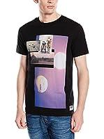 JACK & JONES Camiseta Manga Corta (Negro)