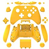 Canamite Replacement Parts Full Housing Shell Protective Case Cover Button Kit for Xbox ONE Slim Controller (Yellow) (Color: Yellow)