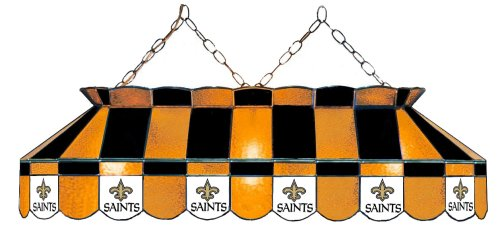 NFL New Orleans Saints 40-Inch Rectangular Stained Glass Billiards Table Light at Amazon.com