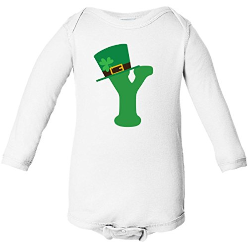 Inktastic Y Irish Letter Hat Long Sleeve Creepers Newborn White front-651523