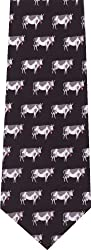 Cows on Black New Novelty Tie