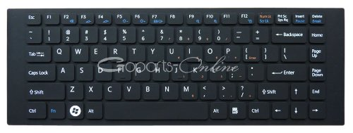 Negro Keyboard Cover/Skin for Sony VAIO VGN-NW VGN-FW VPC-EG VPC-EA series laptop.