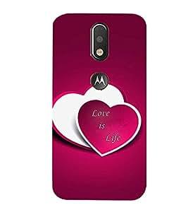 99Sublimation Love is Life 3D Hard Polycarbonate Designer Back Case Cover for Motorola Moto G4 Plus