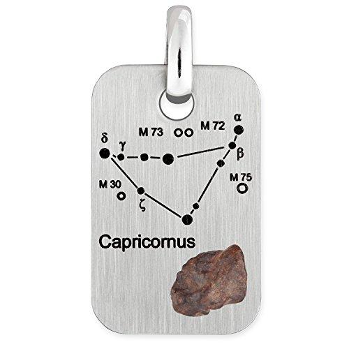adamo herren sternzeichen anh nger mit sternbild steinbock und echtem meteorit. Black Bedroom Furniture Sets. Home Design Ideas