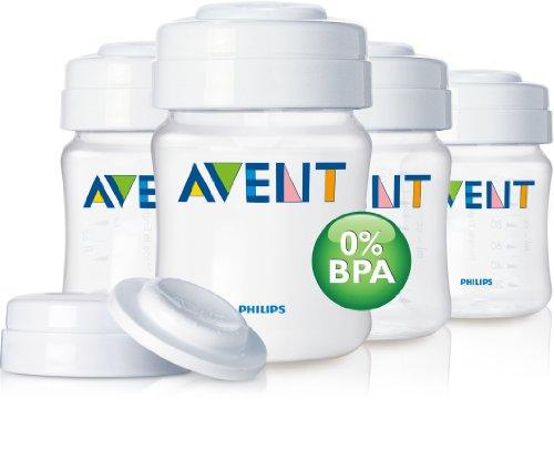 Philips AVENT Feeding Bottle Classic 4oz/125 ml Newborn Flow Nipple 4-Pack