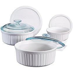Corningware French 6 Piece Bakeware Set - White