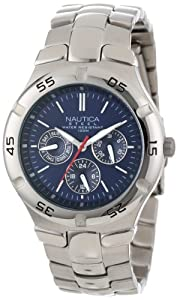 Nautica Men's N10061 Stainless Steel Round Multi-Function Watch