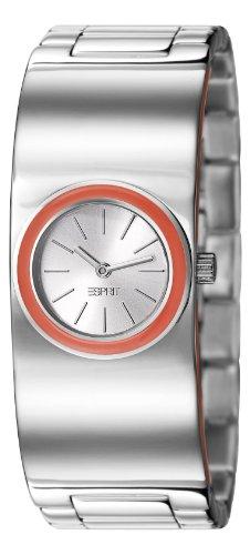Esprit ES106242002 - Reloj analógico de cuarzo para mujer con correa de acero inoxidable, color plateado