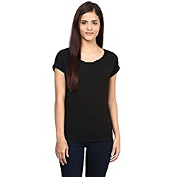 Annabelle by pantaloons Women's Polyester Top (205000005551576_Black_XS)