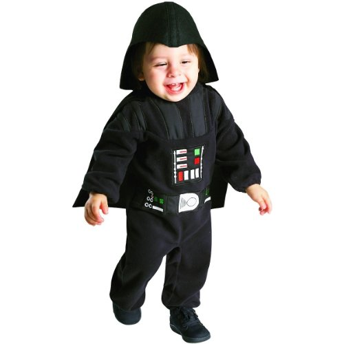 Star Wars Darth Vader Costume Toddler Size 3T/4T: Romper, Cape & Headpiece
