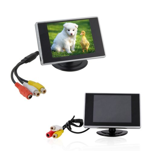 Woputuo 3.5 Inch Tft Lcd Mini Car Rear View Monitor With 2 Channel Video Inputs 320 X 240 Resolution Display For Car/Automobile