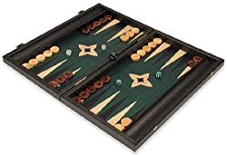 Manopoulos Black & Green Backgammon Set - Medium