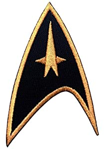 Velcro Black Star Trek Starfleet Command Insignia Cosplay Costume Patch by Titan One
