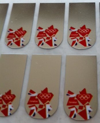 Miss Silver London 2012 Olympics British Flag Union Jack Nail Art Foil Wraps for fingers and toes