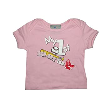 MLB Boston Red Sox Baby / Infant My First Tee T-Shirt 3-6M Pink