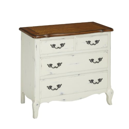 Home Styles 5518-41 The French Countryside Drawer Chest, Oak/Rubbed White front-419361