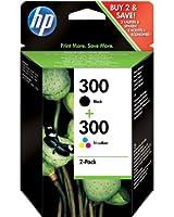 HP 300 Cartouche d'encre d'origine Pack de 2 Noir Cyan Magenta Jaune