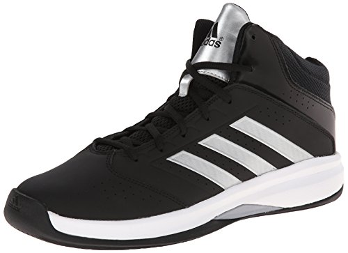 Adidas Performance Men's Isolation 2 Basketball Shoe,Black/Silver/White,12 M US