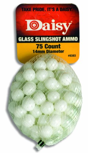 Daisy 8383 High Visibility Glass Slingshot, 75ct