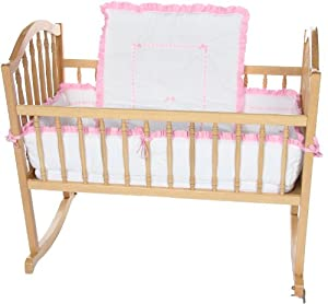 Baby Doll Unique Cradle Bedding Set, Pink