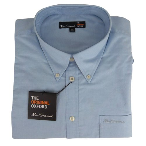 New Mens Ben Sherman Oxford Eton Classic Short Sleeve Shirt King Big Size 3X