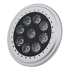 LED PAR36 Spot Light AR111 Base 9W 700Lm 12V Warm White 2700K 2 Yrs Warranty