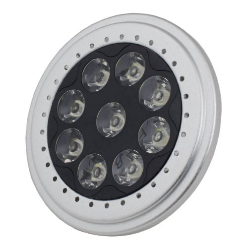 2 Pcs Led Par36 Spot Light Ar111 Base 9W 700Lm 12V Warm White 2700K 1 Year Warranty