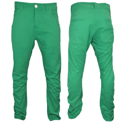 Raiken Striken Slim Twisted Seam Chinos Jeans Trousers Mens Size 34L Aqua Green