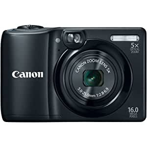 Canon 6178B005 PowerShot A1300 IS 16.0 MP Digital Camera with 5x Digital Image Stabilized Zoom 28mm Wide-Angle Lens with 720p HD Video Recording (Black) (Discontinued by Manufacturer)