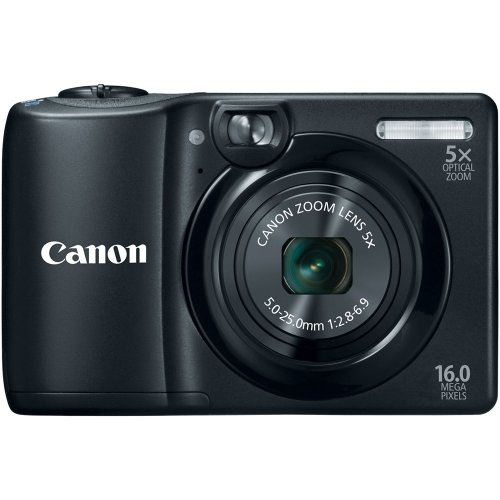 Canon PowerShot A1300 16.0 MP Digital Camera with 5x Optical Zoom 28mm Wide-Angle Lens (Black)