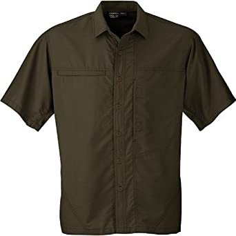 Mountain Hardwear Canyon Short Sleeve Shirt - Men's Shirts LG Peat Moss
