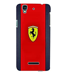 Fuson 3D Printed Car Designer Back Case Cover for Yu Yureka - D574