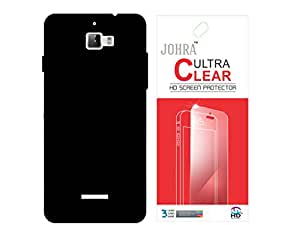 Johra High Quality Black Hard Back Cover With Screen Guard for Coolpad Dazen 1