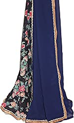 KC Indian Latest Saree Blue Designer with New Border with Blouse On Sale Price