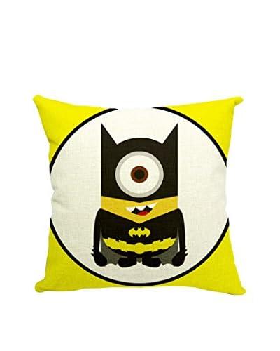LO+DEMODA Funda De Cojín Minion Batman Multicolor