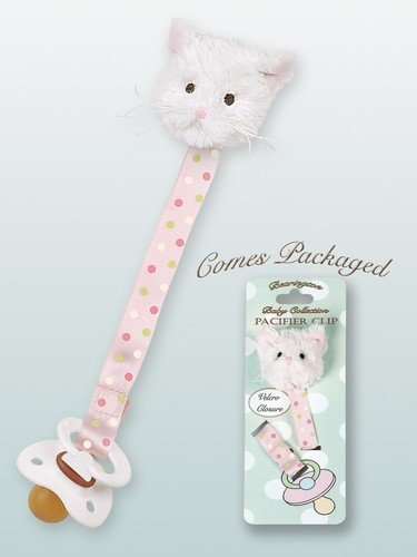 Bearington Collection Purrfect Kitty Pacifier Clip - 1