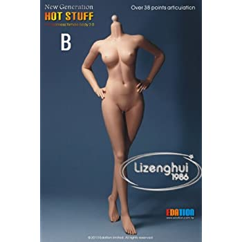 """Play Toy 1//6 Scale 12/"""" Female Caucasian Body B Cup Action Figure Doll PT-S002"""