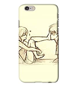 Go Yankee cute love of anime couple Back Cover for Iphone 6 Plus